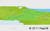 Political Panoramic Map of Las Tunas, physical outside