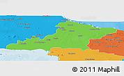 Political Panoramic Map of Las Tunas