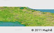 Satellite Panoramic Map of Las Tunas