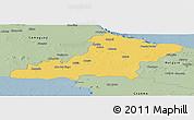 Savanna Style Panoramic Map of Las Tunas
