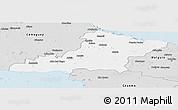 Silver Style Panoramic Map of Las Tunas