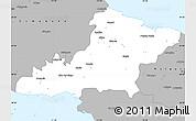 Gray Simple Map of Las Tunas