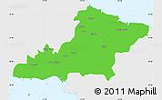 Political Simple Map of Las Tunas, single color outside