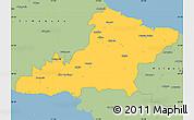 Savanna Style Simple Map of Las Tunas