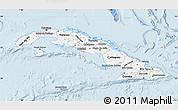 Gray Map of Cuba