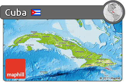 Free Physical Map Of Cuba
