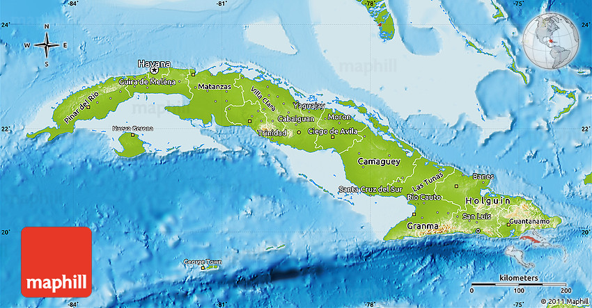 Physical map of cuba gumiabroncs Gallery