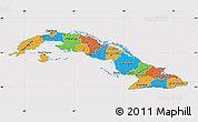 Political Map of Cuba, cropped outside