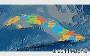 Political Map of Cuba, darken