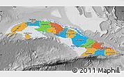 Political Map of Cuba, desaturated