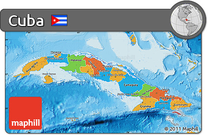 Free Political Map Of Cuba - Political map of cuba