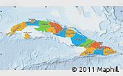 Political Map of Cuba, lighten