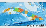 Political Map of Cuba, political shades outside