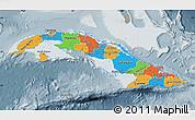 Political Map of Cuba, semi-desaturated