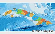 Political Map of Cuba, single color outside