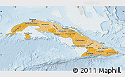 Political Shades Map of Cuba, lighten