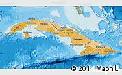Political Shades Map of Cuba
