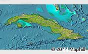 Satellite Map of Cuba