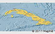 Savanna Style Map of Cuba