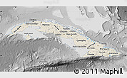 Shaded Relief Map of Cuba, desaturated
