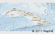 Shaded Relief Map of Cuba, lighten