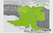 Physical 3D Map of Matanzas, desaturated