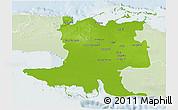 Physical 3D Map of Matanzas, lighten