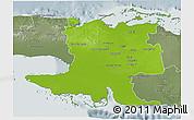 Physical 3D Map of Matanzas, semi-desaturated