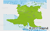 Physical 3D Map of Matanzas, single color outside