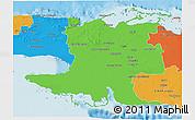 Political 3D Map of Matanzas