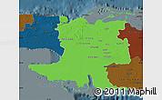 Political Map of Matanzas, darken
