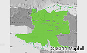 Political Map of Matanzas, desaturated