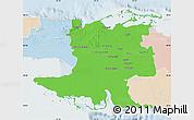 Political Map of Matanzas, lighten