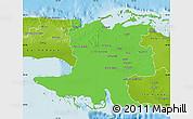 Political Map of Matanzas, physical outside