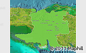 Political Map of Matanzas, satellite outside