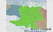 Political Map of Matanzas, semi-desaturated