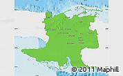 Political Map of Matanzas, single color outside