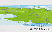 Physical Panoramic Map of Matanzas