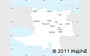 Silver Style Simple Map of Matanzas, single color outside