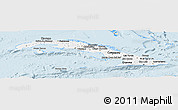 Classic Style Panoramic Map of Cuba