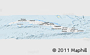 Classic Style Panoramic Map of Cuba, single color outside