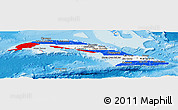 Flag Panoramic Map of Cuba, shaded relief outside