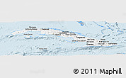 Gray Panoramic Map of Cuba