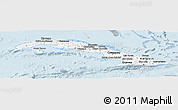 Gray Panoramic Map of Cuba, single color outside