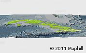 Physical Panoramic Map of Cuba, darken, semi-desaturated