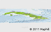 Physical Panoramic Map of Cuba, lighten