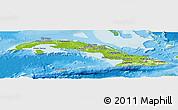 Physical Panoramic Map of Cuba