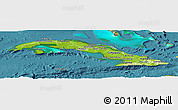Physical Panoramic Map of Cuba, satellite outside