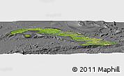 Satellite Panoramic Map of Cuba, desaturated