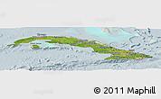 Satellite Panoramic Map of Cuba, lighten